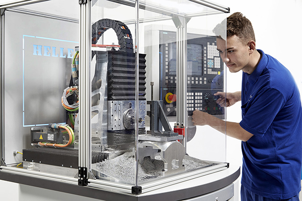Five-axis machine supports training