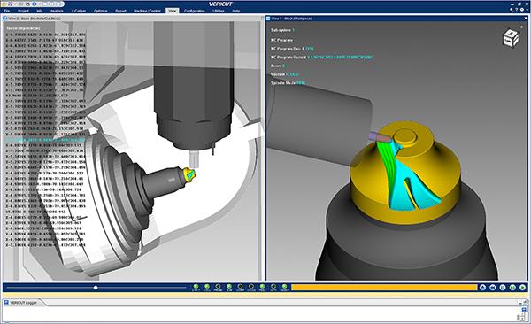 Enhanced CNC simulation with Vericut 8.2