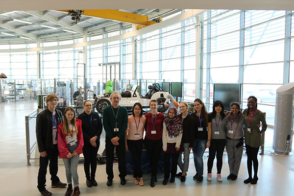 Female students visit Factory 2050