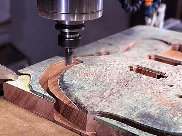 Machines mill wood as well as metal