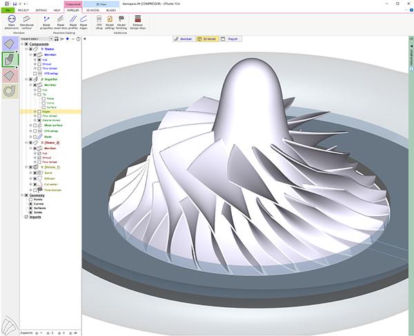 CAM integrates turbomachinery design solution