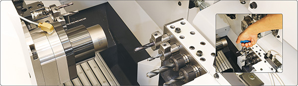 Chuck for Swiss-type lathes