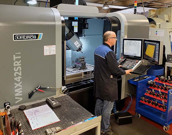 Almond installs another five-axis machine