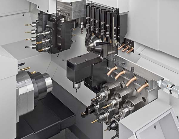 Sliding-head lathes with LFV